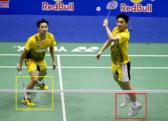 Malaysian World Champion Doubles using Yonex SHB-92MX shoes