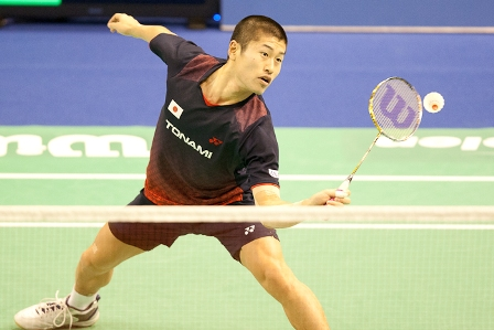 Australian 2011 Grand Prix Singles Champion, Sho Sasaki of Japan, using Wilson BLX Recon badminton racket