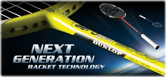Dunlop next generations racket technology including aerogel and m-fil