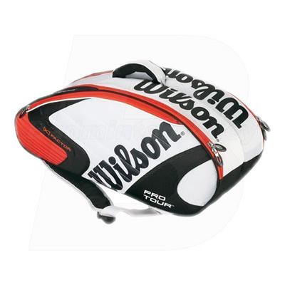 Wilson KFactor KPro 6 (Six) White / Orange Thermal Bag (WRZ-810200ORWH)