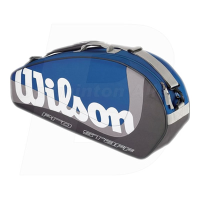 Wilson Pro Staff Triple Blue / Grey Bag (WRZ-843100)