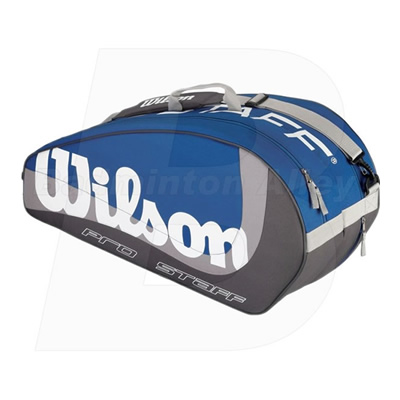 Wilson Pro Staff 6 (Six) Blue / Grey Bag (WRZ-843200)