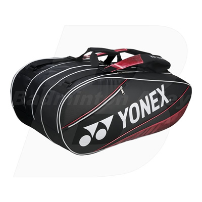 Yonex 10029P Black Red Pro 9 Rackets Badminton Tennis Thermal Bag