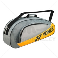 Yonex 5423EX Gray Yellow Badminton Tennis 3 Rackets Bag
