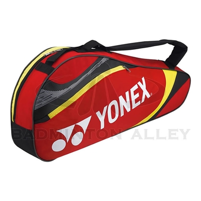 Yonex 7323 Red Yellow Badminton Tennis 3 Rackets Bag
