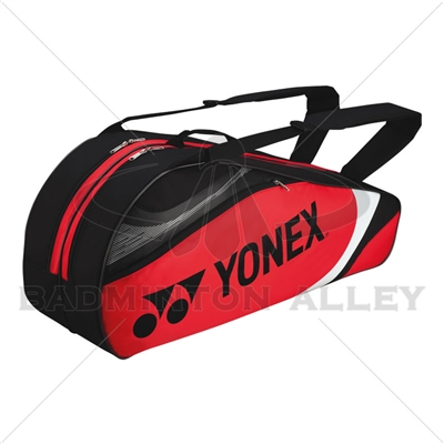 Yonex 7326 Red Black Badminton Tennis 6 Rackets Bag