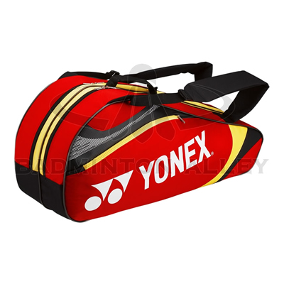 Yonex 7326 Red Yellow Badminton Tennis 6 Rackets Bag
