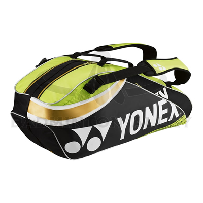 Yonex 9326EX Black / Lime Green Pro Badminton Tennis Thermal Bag