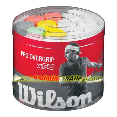 Wilson Pro Overgrip Bucket 60pcs Assorted Colors