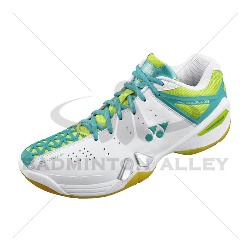 Yonex SHB-PC-01 LX White Lime Women Badminton Shoes