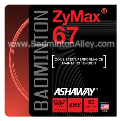 Ashaway ZyMax 67 (0.67mm) Badminton String - Red