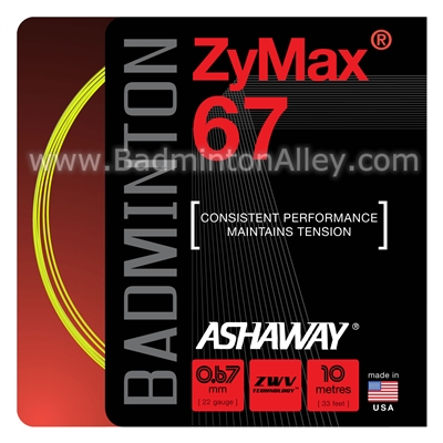 Ashaway ZyMax 67 (0.67mm) Badminton String - Yellow