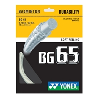 Yonex BG-65 (BG65) White (0.70mm/10m/33ft) Badminton String