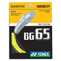 Yonex BG-65 (BG65) Yellow (0.70mm/10m/33ft) Badminton String