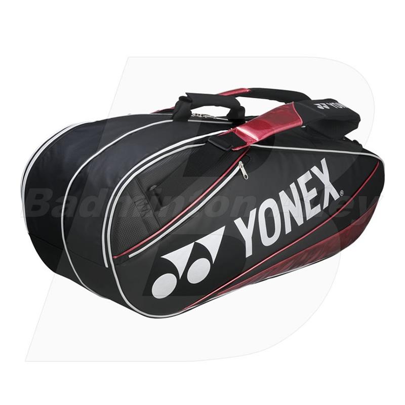 Yonex 10026P Black Red Pro LTD 6 Rackets Badminton Tennis Thermal Bag