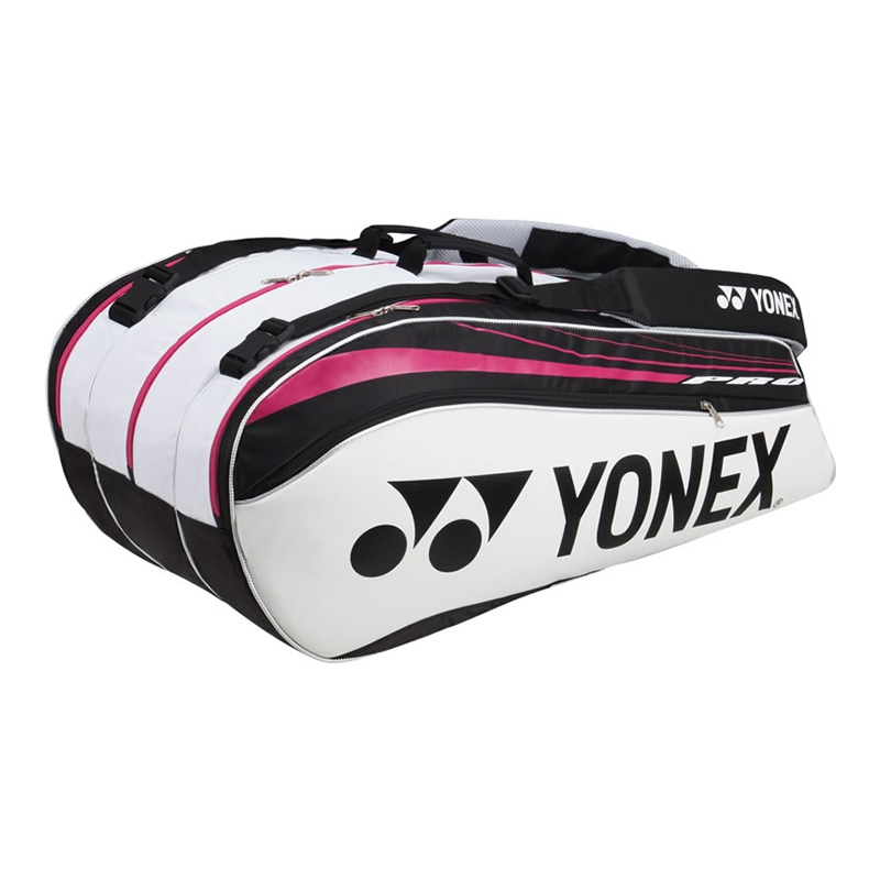 Yonex 9229ex White Black Magenta Pro Badminton Tennis Thermal Bag