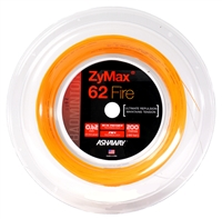 Ashaway ZyMax 62 Fire (0.62mm) 200m/660ft Badminton String Reel - Orange