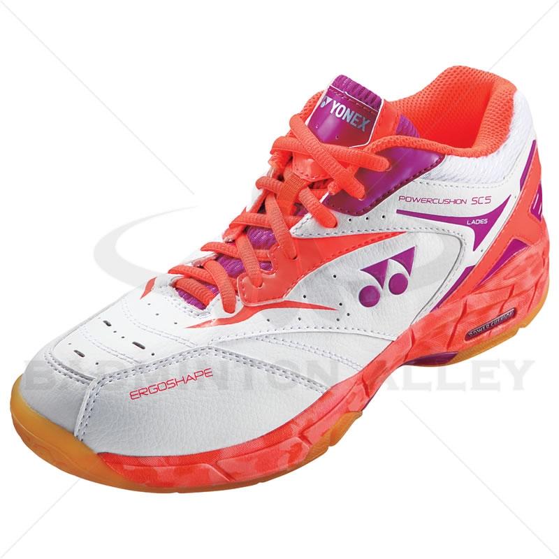 Yonex Power Cushion SHB-SC5LX Coral Orange Women Badminton ... Badminton Set