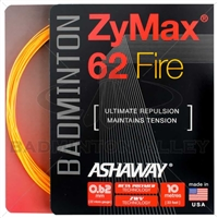 Ashaway ZyMax 62 Fire (0.62mm) Badminton String - Orange