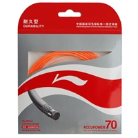 Li-Ning Accupower 70 Orange ( AP70 / AXJD044 / 10 meter / 33 feet / 0.70mm ) Badminton String