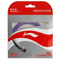 Li-Ning Accupower 70 Purple ( AP70 / AXJD044 / 10 meter / 33 feet / 0.70mm ) Badminton String
