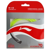 Li-Ning Accupower 70 Yellow ( AP70 / AXJD044 / 10 meter / 33 feet / 0.70mm ) Badminton String