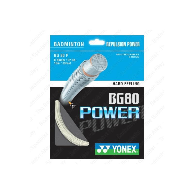 Yonex BG-80 (BG80) Power White 0.68mm Badminton String